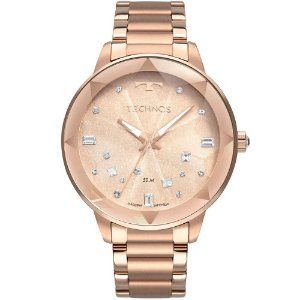Relógio Technos Feminino Elegance Crystal 2039CG/4J