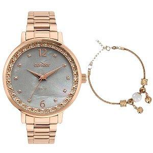Kit Relógio Condor Feminino CO2036MUK/K4C + pulseira
