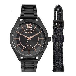 Relógio Condor Feminino CO2035MUX/T4P Troca Pulseira