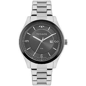 Relógio Technos Masculino Classic Steel 2117LBQS/1C