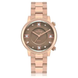Relógio Technos Rocks Feminino Swarovski 2039BV/4M