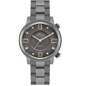 Relógio Technos Rocks Feminino Swarovski 2039BW/4C