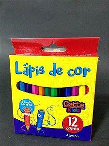 Caixa com 12 Lápis de Cor Mini Hexagonal Gatte