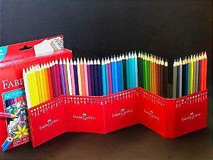 Caixa com 60 Lápis de Cor Sextavado Faber Castell