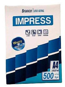 Papel Sulfite A4 75g Resma com 500 folhas Impress