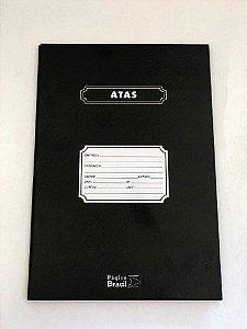 Livro Ata Capa Dura com 200 Folhas 205x305mm Página Brasil