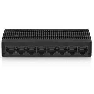 Switch Mini Com 8 Portas 100mbps Preto Re308 - Multilaser