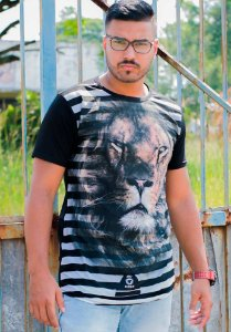 T-shirt Masculina Leão