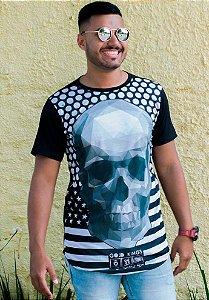 Camiseta Caveira Skull Preta Masculina