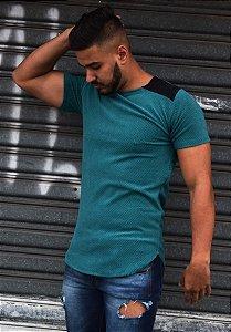 Camiseta Veludo Verde