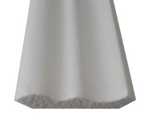 1 metro Moldura Rodateto Sanca de Isopor Modelo 01 com 6,5cm 2peças 0,50cm Moldutec