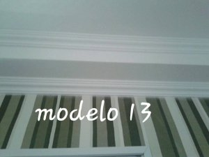 1 metro Moldura Rodateto Sanca de Isopor Modelo 13 com 6,5cm 2peças 0,50cm Moldutec