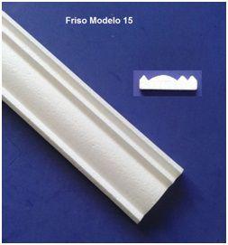 1 metro Rodameio ou Guarnição de Isopor Modelo 15 com 6,5cm 2peças 0,50cm Moldutec