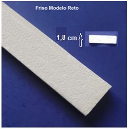 1 metro Rodameio ou Guarnição de Isopor Modelo Reto com 6,5cm 2peças 0,50cm Moldutec