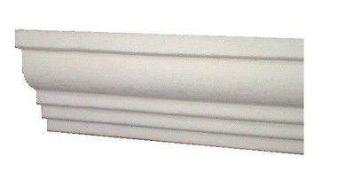1 metro Moldura Rodateto Sanca de Isopor Modelo 02 com 8cm 2peças 0,50cm Moldutec