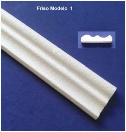 1 metro Rodameio ou Guarnição de Isopor Modelo 01 com 8cm 2peças 0,50cm Moldutec