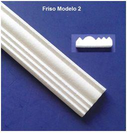 1 metro Rodameio ou Guarnição de Isopor Modelo 02 com 8cm 2peças 0,50cm Moldutec