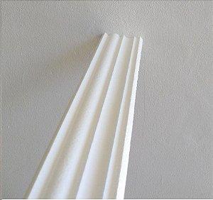 1 metro Moldura Rodateto Sanca de Isopor Modelo 16 com 8cm 2peças 0,50cm Moldutec