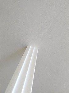 1 metro Moldura Rodateto Sanca de Isopor Modelo 3 Degraus com 8cm 2peças 0,50cm Moldutec