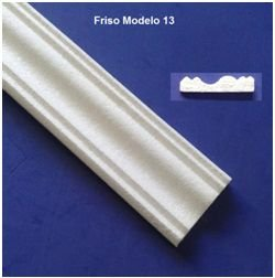 Rodameio ou Guarnição de Isopor Modelo 13  -  2peças 0,50cm Moldutec