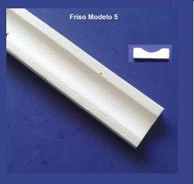 Rodameio ou Guarnição de Isopor Modelo 5  -  2peças 0,50cm Moldutec