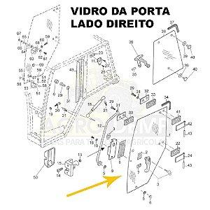 VIDRO DA PORTA DIREITA VALTRA BH140 / BH160 / BH180 / BM100 / BM110 / BM120 / 1780 - 81472600
