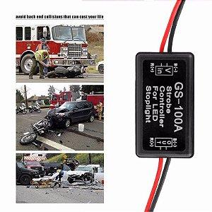 Controladora Gs-100a Para Luz Freio Pisca Strobo Moto Carro