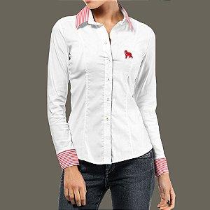9883f38974 Camisete feminina Lobo Branco Vip class daywork white and red stripes