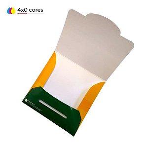 Envelope para cd / dvd com encaixe impresso em papel cartão 250 g/m² com verniz UV total