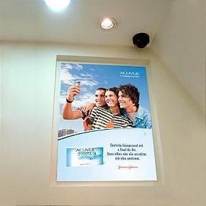 Placa em ps 2mm com aplicação de vinil adesivo brilho ou fosco