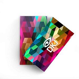 Cartão de visita 4x4 cores em papel cartão 300 g/m² com verniz UV total em um lado corte reto