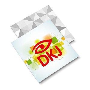 Mini Cartão de visita 4x1 cores em papel cartão 250 g/m² com verniz UV total um lado corte reto
