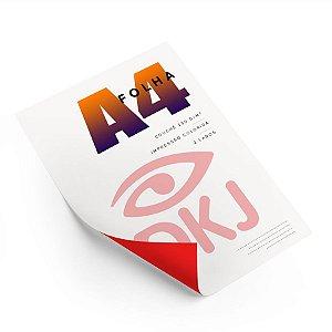 Folha A4 impressão colorida frente e verso em papel couché brilho 150 g/m²