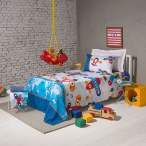 Jogo lençol Infantil Santista + 1 toalha de brinde