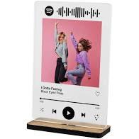 placa de acrilico transparente spotify