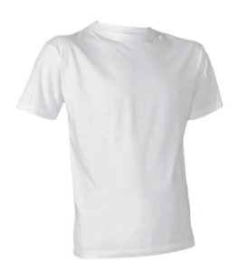 Camiseta de poliéster para sublimação Adulto - Branca