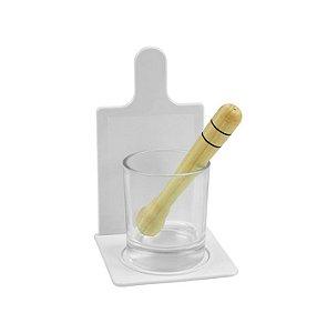 Kit caipirinha com copo de vidro para sublimação