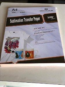 Papel para sublimação rosa Mecolour A4 - Pacote com 100 folhas