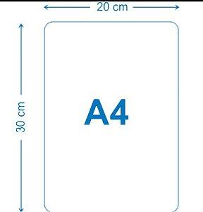 Placa de MDF 20x30 A4 para sublimacao