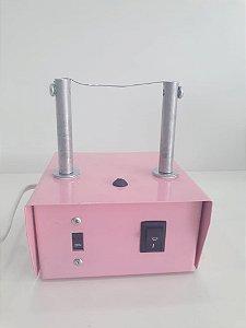 Máquina de fuxico rosa