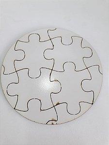 Quebra-cabeça redondo MDF 15x15