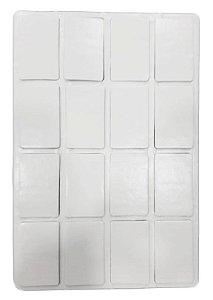 Ladrilho adesivo retangular pet pequeno 4x6,5 c/16un
