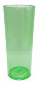 Copo long drink verde transparente