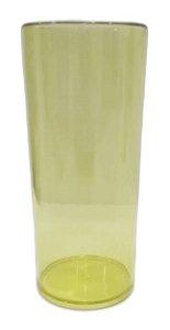 Copo long drink amarelo transparente