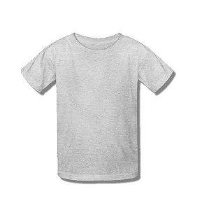 Camiseta poliéster infantil tam 10 Cinza