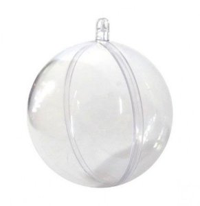Bolinha acrílica de natal esfera 5 - pc c/10un