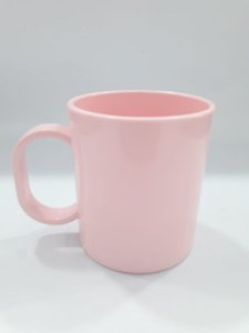 Caneca de polímero premium rosa bebê
