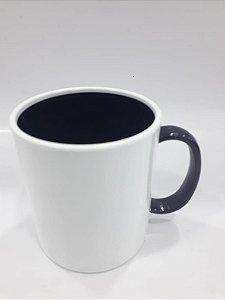 Caneca de polímero alça e interior preto