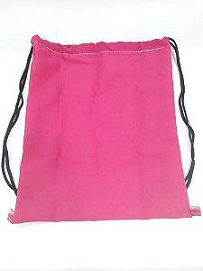 Saco mochila 35x35 rosa