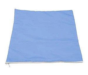 Capa de almofada 30x30 azul/branca